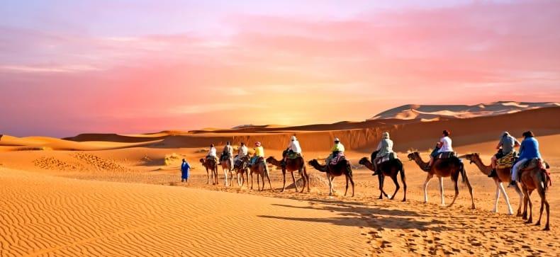 Kalnų žygis. Marokas