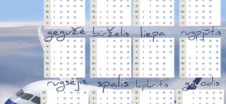 2020 Kalendorius Su Savaitemis.Sventinės 2013 Metų Dienos Kada Nedirbsime Ir Keliausime