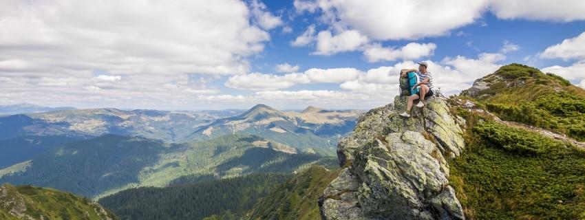 Kalnų žygis. Ukraina
