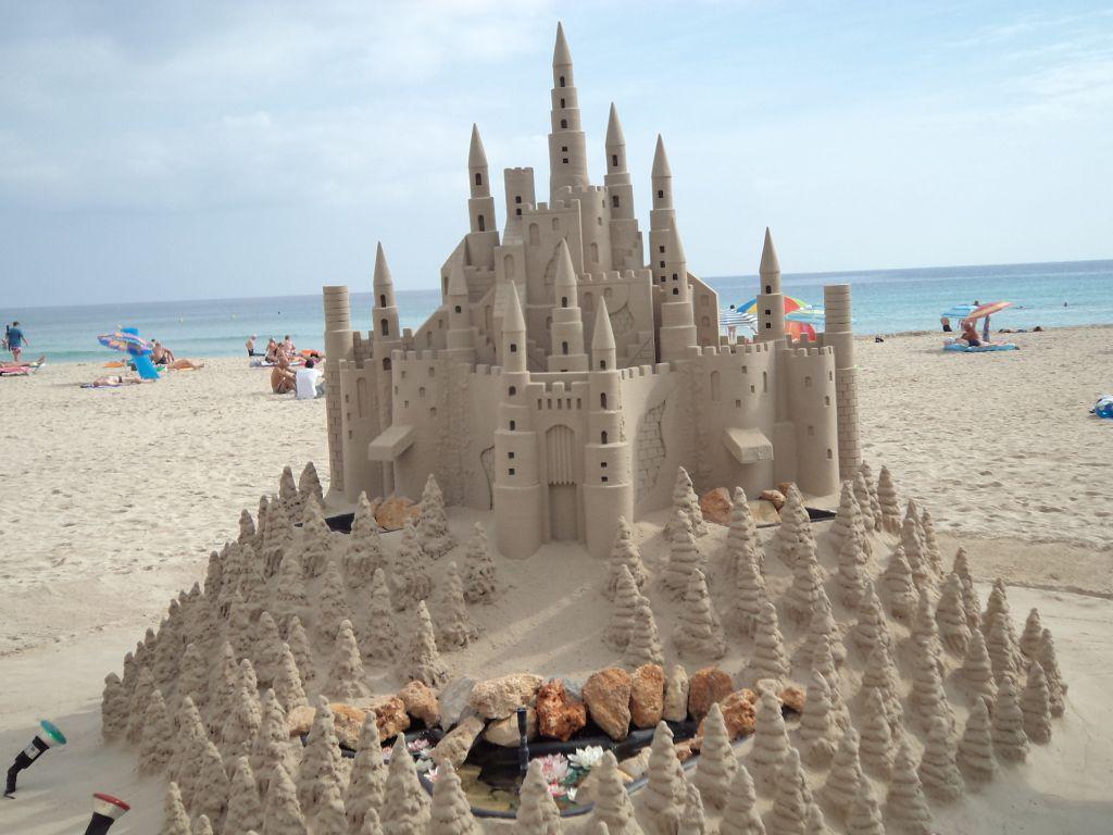 Smėlio pilis Cala Millor paplūdimyje