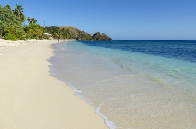 Idyllic beach in the Mamanuca Islands in Fiji