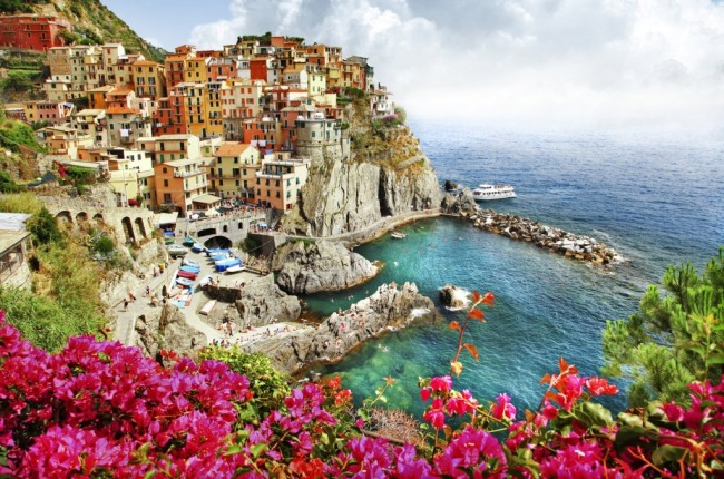 Scenic village in Ligurian coast