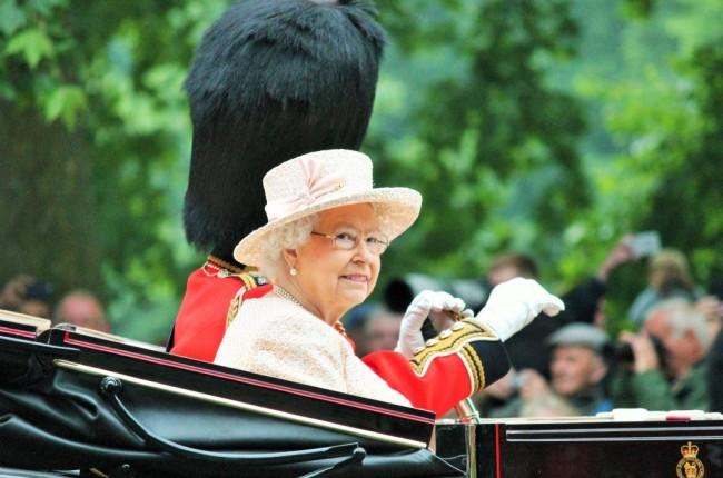 Queen Elizabeth II Trooping the Colour England, UK