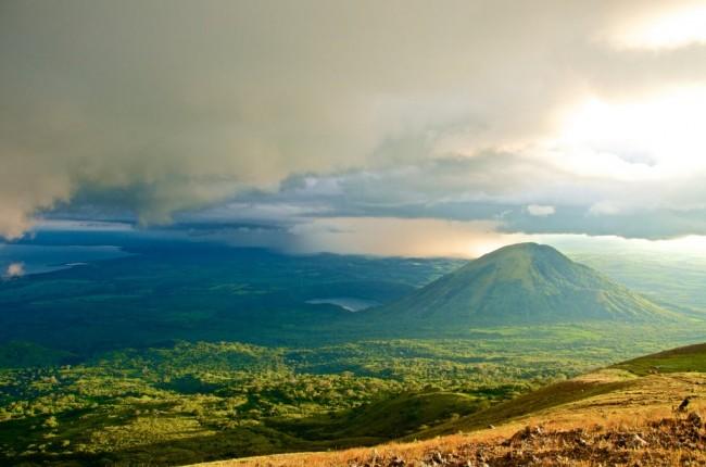 View of Volcano in Nicaragua